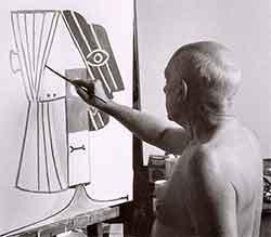 Picasso en train de peindre