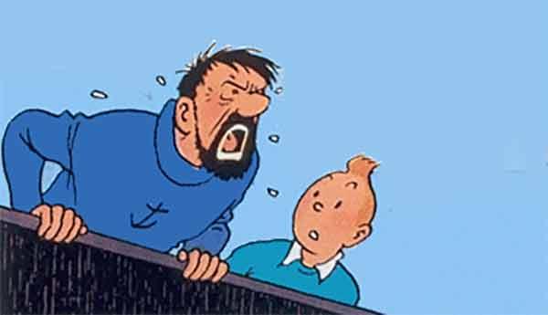 Capitaine Haddock et Tintin