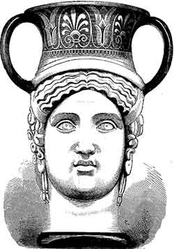 Fig.432. Vase grec à deux têtes (céramique)