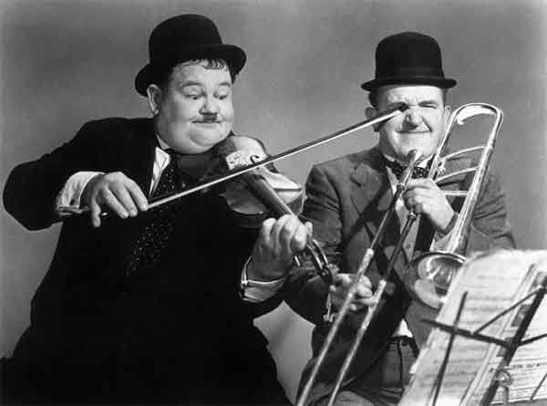 Laurel et Hardy, accident oculaire