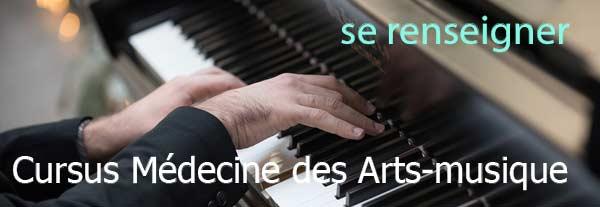 se former Médecine des arts-musique