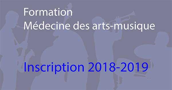 Formation Médecine des arts 2018-2019