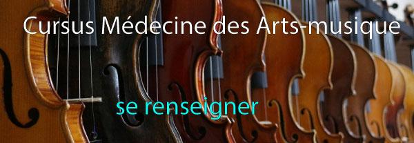 Cursus médecine des arts-musique
