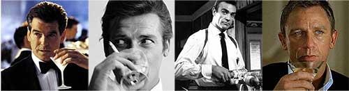 James Bond et alcool
