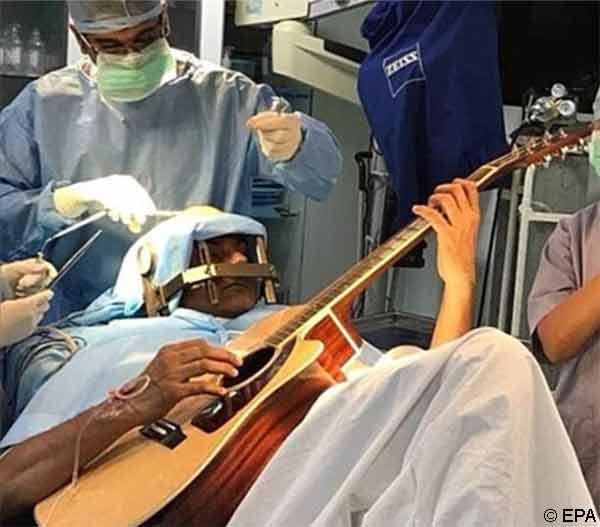 Dystonie chez un guitariste et neurochirurgie