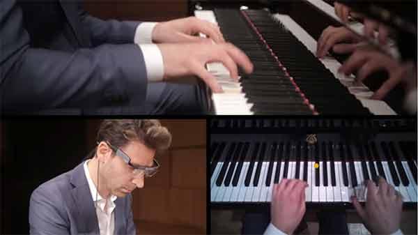 pianiste et mouvements oculaires