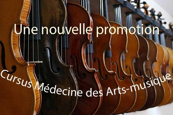 Cursus Médecine des Arts Nouvelle promotion