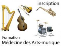 Formation Médecine des arts-musique - s'inscrire 2021-2022