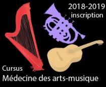 Cursus Médecine des arts-musique - s'inscrire