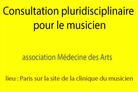 Consultation pluridisciplinaire pour le musicien