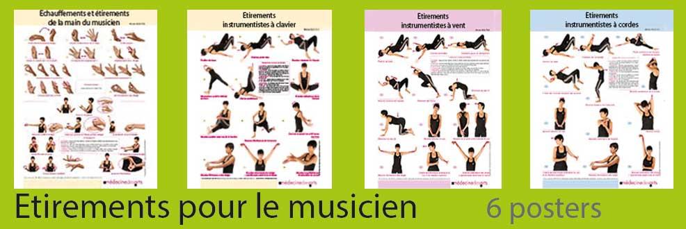 Etirements pour le musicien : 6 posters