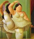 Danseuse à la barre. Botero