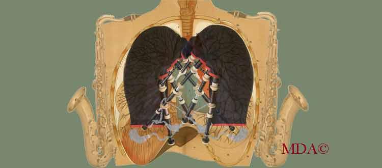 Maladie pulmonaire et instrument à vent